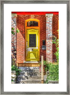 Yellow Door Framed Print by Liane Wright