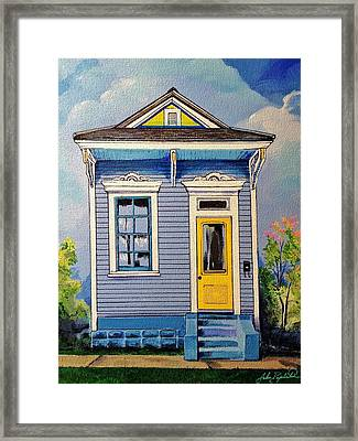 Yellow Door Shotgun  Framed Print