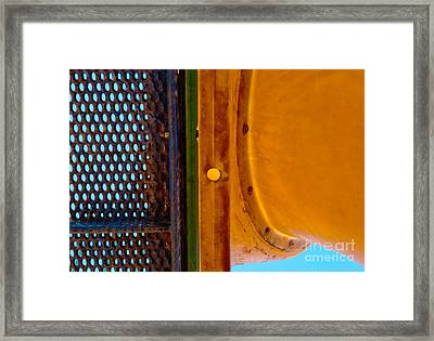 Framed Print featuring the photograph Yellow Dot by Lena Wilhite
