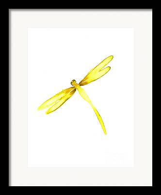Yellow Insect Framed Prints