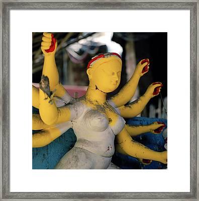 Yellow Durga Framed Print by Shaun Higson