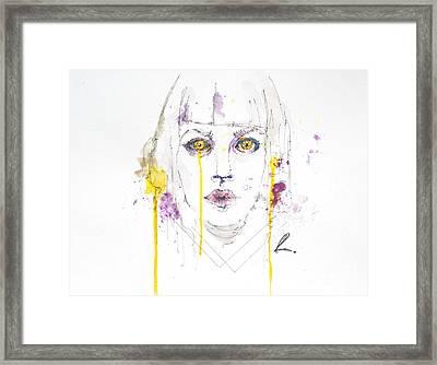 Yellow Framed Print by Edgar Rafael