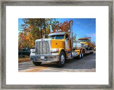 Yellow Eighteen-wheelers Framed Print