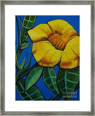 Yellow Elder - Flower Botanical Framed Print by Grace Liberator