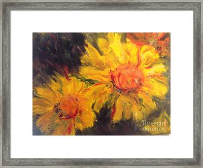 Yellow Faces Framed Print