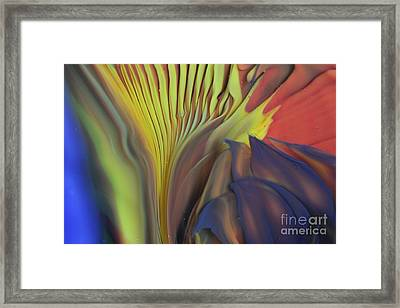 Yellow Fan And Flower Framed Print