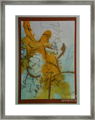 Yellow Fantasy Framed Print by Gloria Cooper
