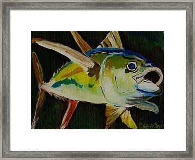 Yellow Fin Tuna Framed Print