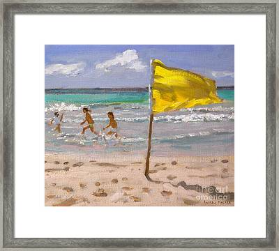Yellow Flag  Barbados Framed Print by Andrew Macara