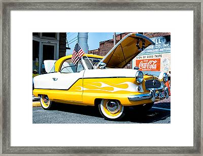 Yellow Flame Framed Print by Cindy Archbell
