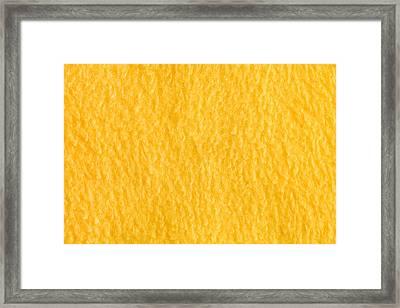 Yellow Fleece Framed Print by Tom Gowanlock