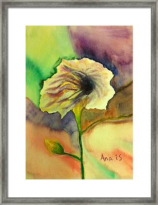 Yellow Flower Framed Print by Anais DelaVega
