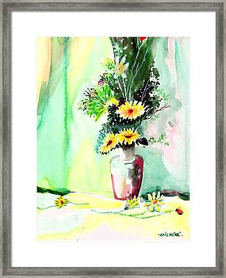 Yellow Flowers 1 Framed Print by Anil Nene