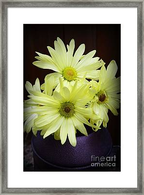 Yellow Flowers Framed Print by Paul Ward