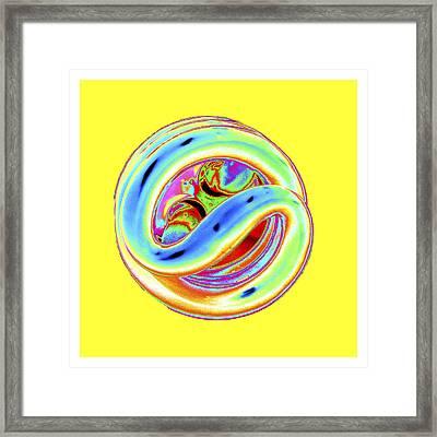 Yellow Fluorescent Framed Print