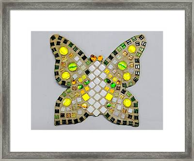 Yellow Flutterby Framed Print by Lisa Brandel