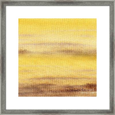 Yellow Fog Abstract Landscape  Framed Print by Irina Sztukowski