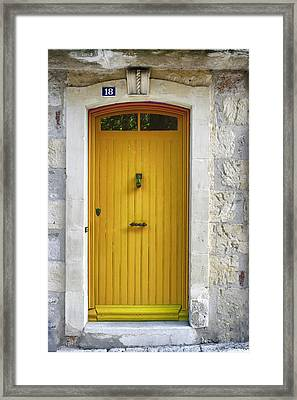 Yellow French Door Framed Print by Georgia Fowler