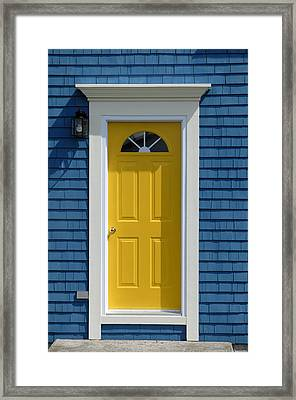 Yellow Front Door Framed Print