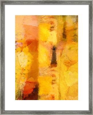 Yellow Garden Framed Print by Lutz Baar