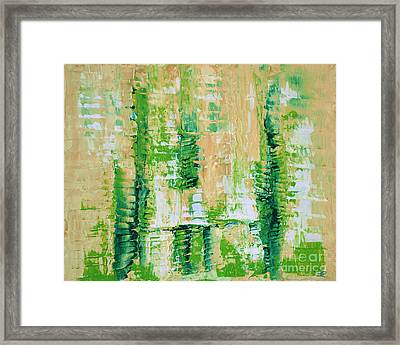 yellow green GROWTH Abstract by Chakramoon Framed Print by Belinda Capol