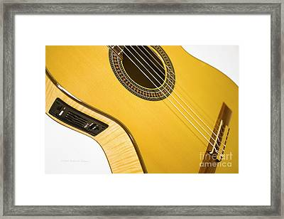 Yellow Guitar Framed Print
