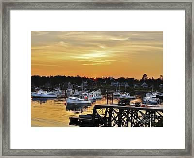 Yellow Harbor Framed Print