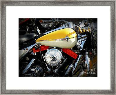 Yellow Harley Framed Print by Lainie Wrightson