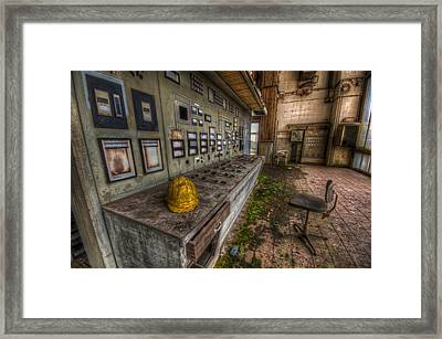 Yellow Hat In Control Framed Print