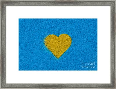 Yellow Heart Framed Print by Tim Gainey