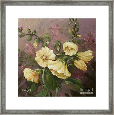 Yellow Holyhock Framed Print