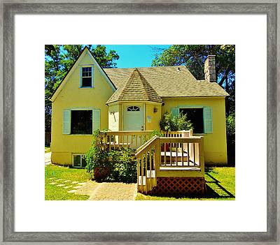 Yellow House 6 Framed Print by Larry Campbell
