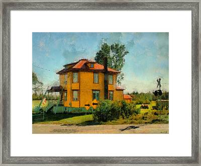 Yellow House Framed Print by Chris Coyle
