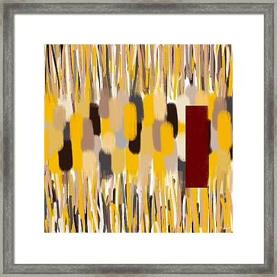 Yellow Intense Framed Print by Lourry Legarde