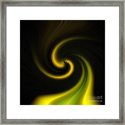 Yellow Into Black Framed Print