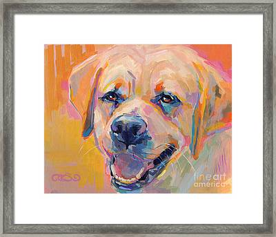 Yellow Framed Print by Kimberly Santini