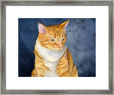 Yellow Kitty Framed Print