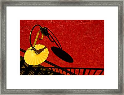 Yellow Lamp Framed Print by Maria Coulson