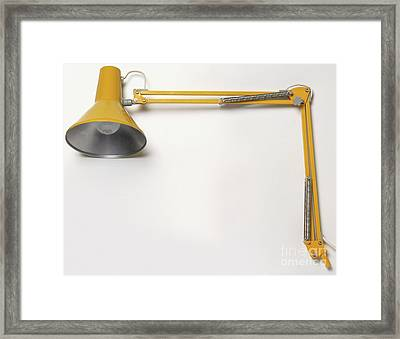 Yellow Lamp Framed Print by Steve Gorton / Dorling Kindersley