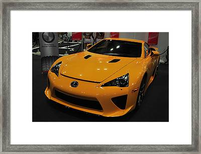 Yellow Lexus Framed Print