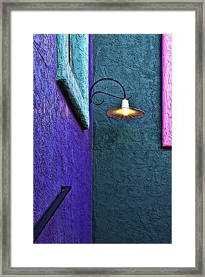 Corner Lamp Framed Print by Maria Coulson