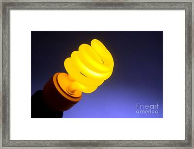 Yellow Light Framed Print by Olivier Le Queinec