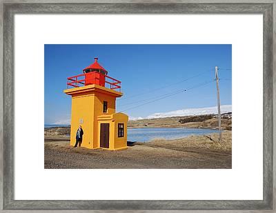 Yellow Lighthouse Framed Print