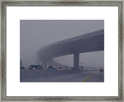 Yellow Line 3 Framed Print