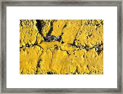 Yellow Line Abstract Framed Print by Luke Moore