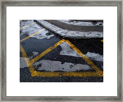 Yellow Lines 2  Framed Print by Lyle Crump