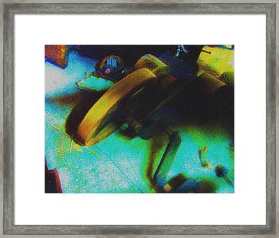 Yellow Machine Framed Print by Mieczyslaw Rudek Mietko