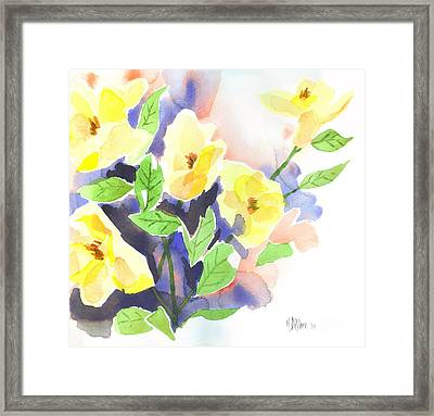 Framed Print featuring the painting Yellow Magnolias by Kip DeVore