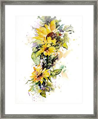 Yellow Majesty Framed Print