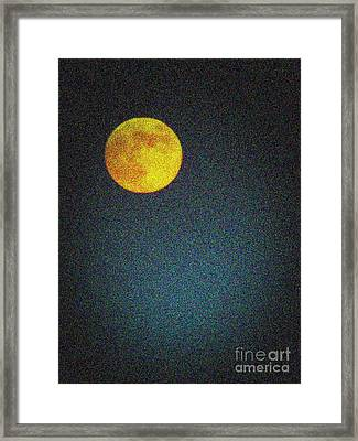 Yellow Man In The Moon Framed Print by Colleen Kammerer